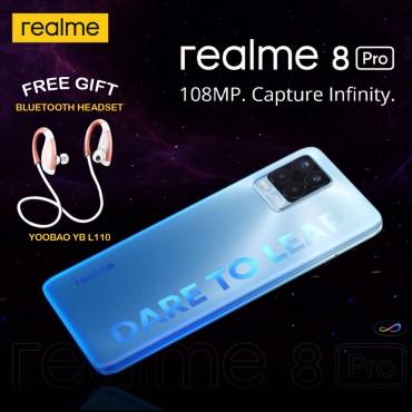 Realme 8 Pro Smartphone Dual Sim 8GB RAM 128GB 4G LTE Black + Free Gift