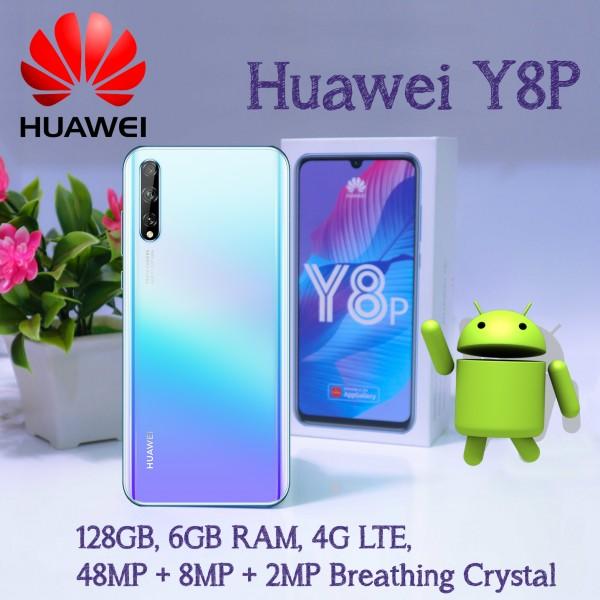 Huawei Y8P Dual SIM, 128GB, 6GB RAM, 4G LTE, 48MP + 8MP + 2MP  Breathing Crystal