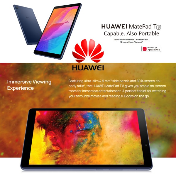 HUAWEI MATEPAD T8 WIFI 16GB + 2GB RAM BLUE
