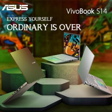 Asus Vivobook S432 Ultraslim 14'' Full HD Intel 10th Gen i5-10210 8GB 512GB SSD Illuminated Chicklet UK Keyboard IR HD Camera with Facial Login Windows 10 Moss Green /ENG
