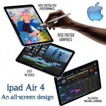 """Apple Ipad Air 4 10.9 """" With Facetime 256GB Wifi 2020"""