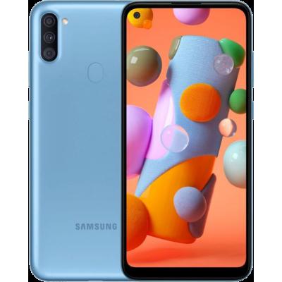 Samsung Galaxy A11 Dual SIM - 32GB, 2GB RAM, 4G LTE  13MP + 5MP + 2MP Blue